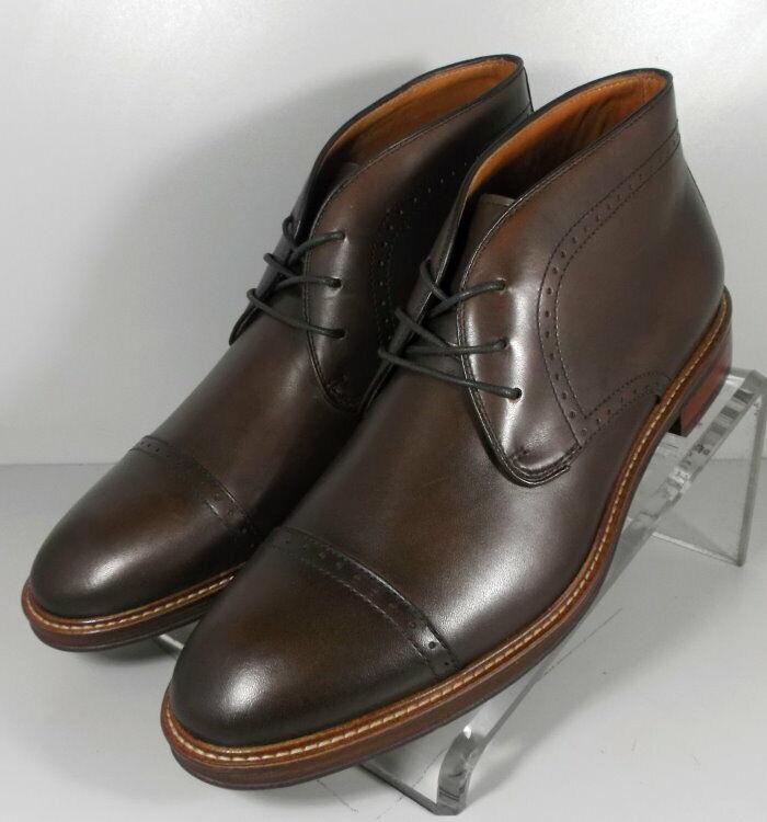 203873 ESBT50 Men's shoes Size 10 M Brown Leather Boots Johnston & Murphy