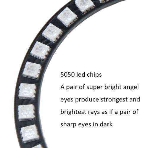 2pcs 140mm Weiß LED 5050 Auto Angel Eye Licht Scheinwerfer Halo Ring DRL Cotton