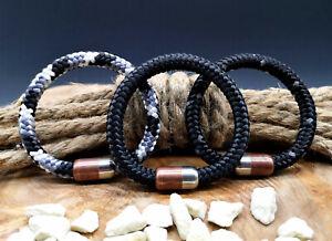 Segeltau-Armband-8mm-NEU-Surfer-Style-Magnetverschluss-Handmade-Herren-Frauen