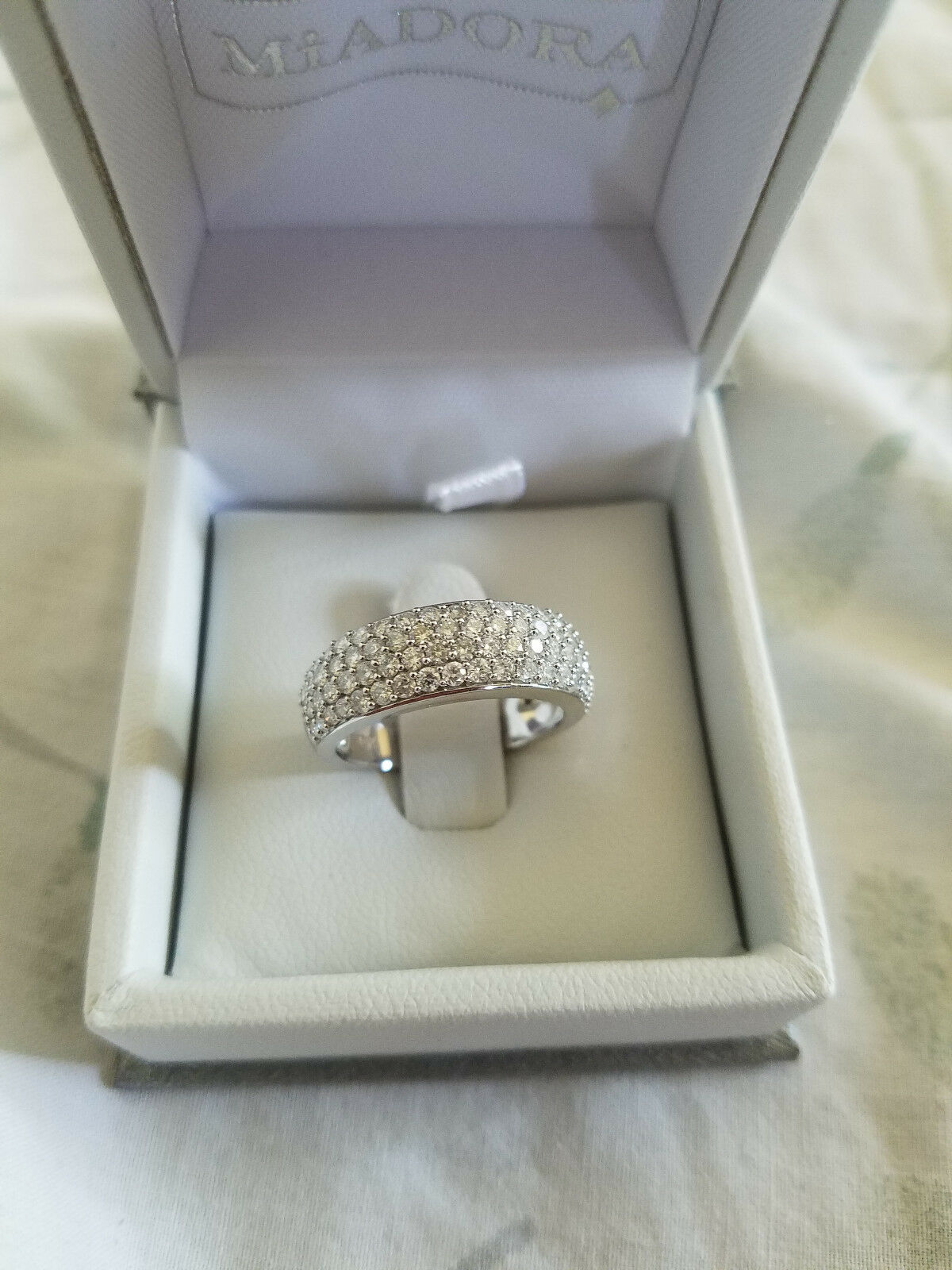 Wedding Engagement Ring White gold - Miadora - New Never Worn size 6