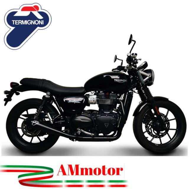 Escape Completo Termignoni Triumph Street Twin 900 2018 18 Moto Conical Black