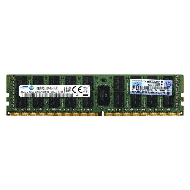 HP Genuine 16GB 2Rx4 PC4-2133P PC4-17000 DDR4 2133MHz 1.2V ECC RDIMM Memory RAM