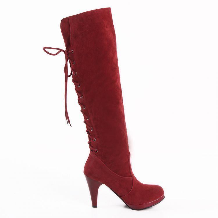 Botines botas cm de mujer talón 10.5 cm botas rojo ante elegantes caldi cómodo 8966 db8389