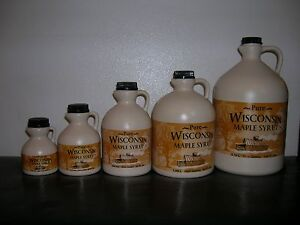 09339445da4 Image is loading 100-Pure-Wisconsin-Maple-Syrup-Grade-A-Medium-