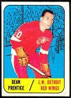1967 68 TOPPS HOCKEY #46 DEAN PRENTICE EX+ DETROIT RED WINGS CARD