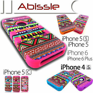 Heavy-Duty-Durable-Aztec-Tribal-Case-Cover-for-Apple-iPhone-4S-5C-5S-SE-6S-Plus