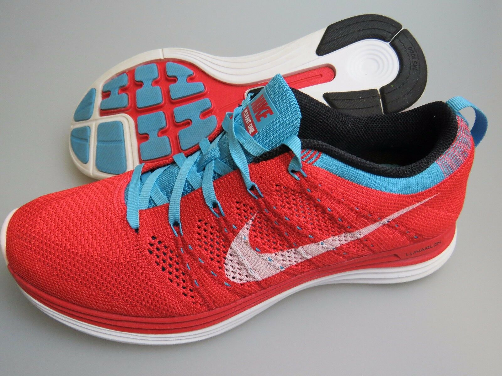 NIKE Flyknit One Flyknit 1 554888-616 Bright Red White bluee shoes Women's US 10