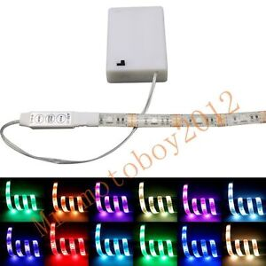 45v 3m battery operated rgb led strip light waterproof craft hobby image is loading 4 5v 3m battery operated rgb led strip aloadofball Choice Image