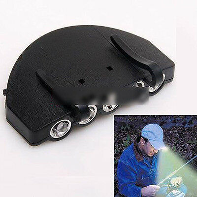 Unique Modish 5 LED Cap Head Light Lamp Torch For Hiking Camping Climbing SPCA