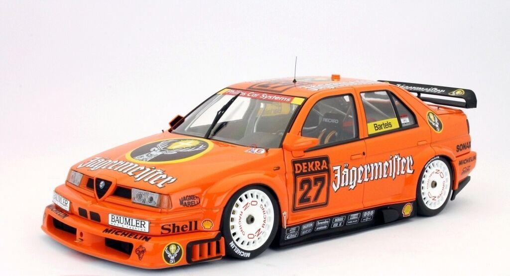 ALFA ROMEO 155 V6 TI  27 M BARTELS JAGERMEISTER DTM 1994 HPI8617 1 18 DEKKRA