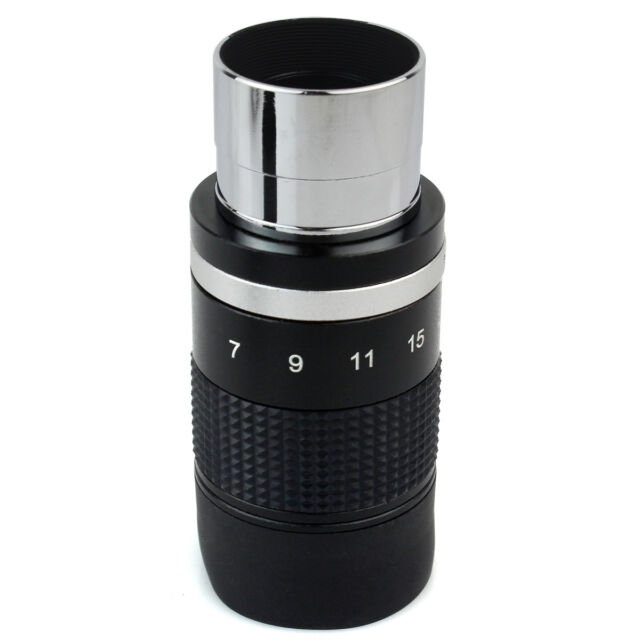 "7-21mm 1.25"" Zoom Eyepiece for Telescope Skywatcher of Any 1.25"" Eyepiece Filter"