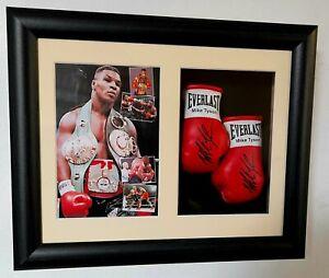 Mike Tyson Miniature Boxing Gloves Display *Boxing Memorabilia*