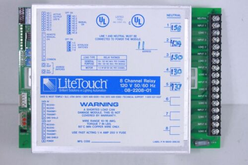 LiteTouch// Savant 8 Channel Relay Module 08-2208-01 120V