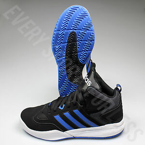 official photos e0a5b 202b2 Image is loading Adidas-Cloudfoam-Thunder-Mid-B74586-Basketball-Shoes-Blk-