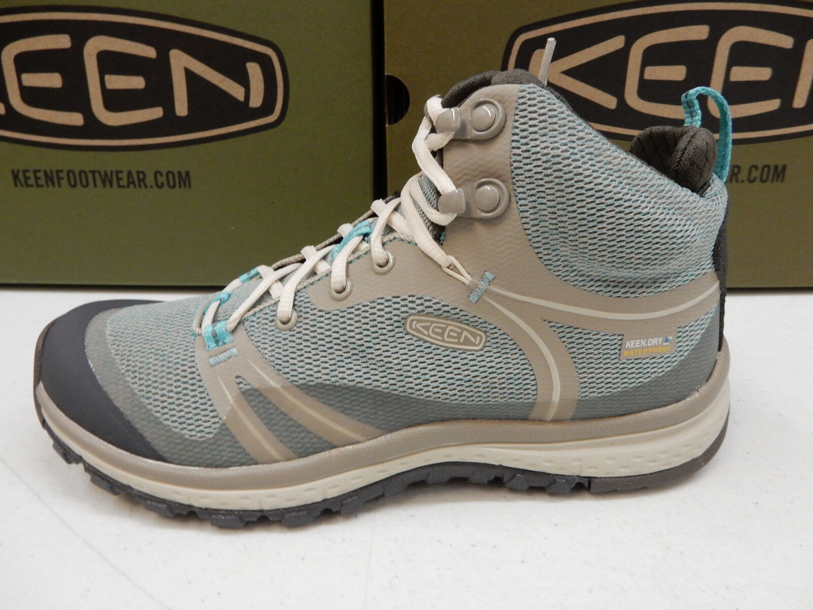 KEEN WOMENS HIKING SNEAKERS TERRADORA MID WP RADIANCE GOAT SIZE 7