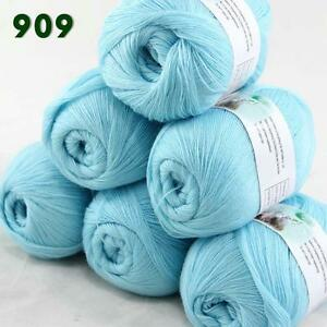 Sale-6-Skeins-x50g-LACE-Soft-Acrylic-Wool-Cashmere-Shawls-Hand-Knitting-Yarn-09