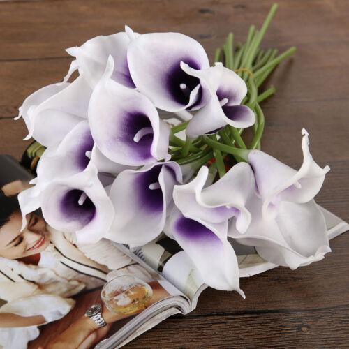 Calla Bridal Wedding Bouquet 10//20 Latex Real Feeling Flower Bouquets Home Decor