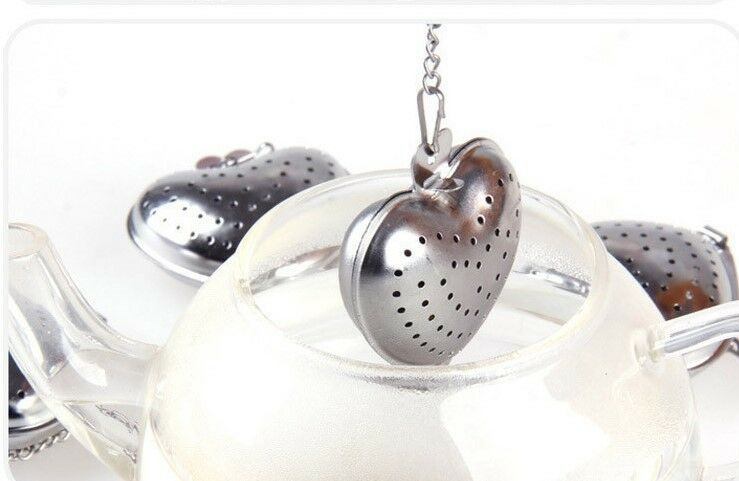 Bulk 50 50 50 Pieces of Heart-Shaped Tea Strainer with Organza Bags cd240f
