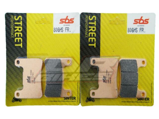 Suzuki GSXR 750 2004 2005 K4 K5 SBS Street Sintered Front Brake Pads 806HS