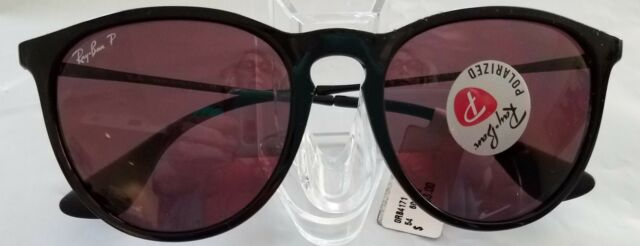 443dc17046bc Ray-Ban Erika Sunglasses Black Frame Polarized Violet Mirror Lens Rb4171  601 5q