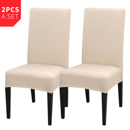 US Spandex Stretch Dining Chair Cover Slipcovers Removable Seat Cover Washable