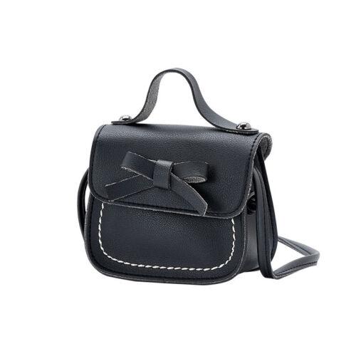 Kids Girls PU Leather CUTE Bowknot Crossbody Messenger Bag Wallet Purse Handbag