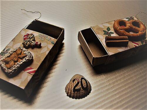 2er//3er Set Mini Geschenkbox Streichholzschachtel Baum Anhänger Schmuckschachtel