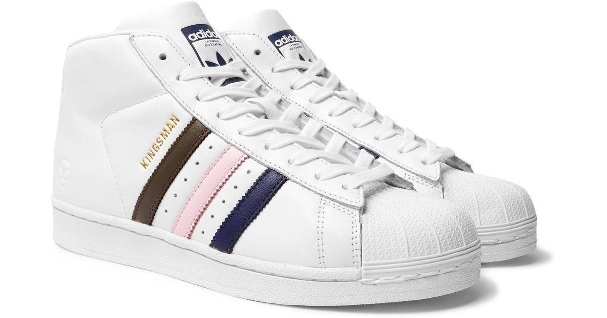 Adidas x Kingsman Originals Superstar Pro Model Hi-Top Sneakers, Comfortable