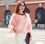 Jacket maniche Fur Coat a Vest Women pipistrello invernale Mantello Camicetta Luxury con xw0FZqqI