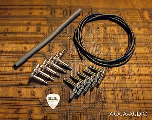 guitar pedal board diy kit patch cable 10 pancake plugs heat shrink. Black Bedroom Furniture Sets. Home Design Ideas