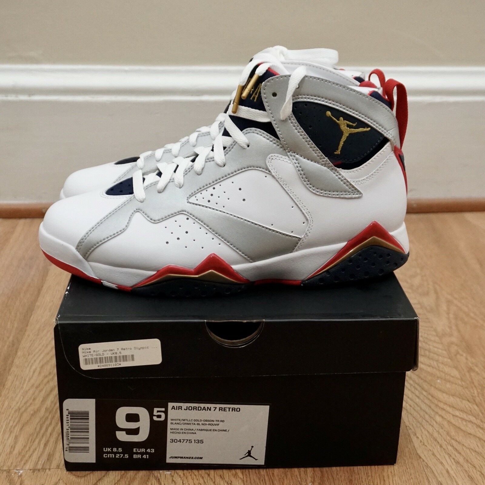 2012 Nike Nike Nike Air Jordan Retro 7  Olympic  Brand New DS Uomo 304775-135 Dimensione 9.5 12f91d