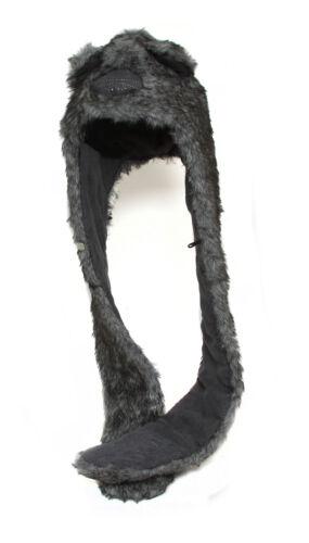Animal Print Critter Long Faux Fur Hood