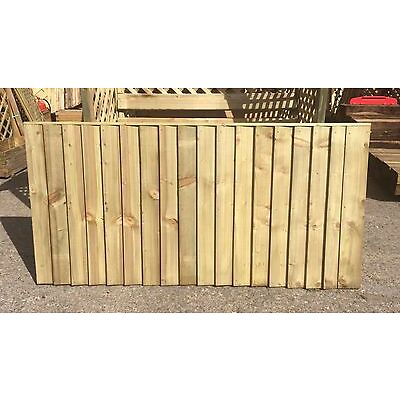 Brand New 6ft x3ft Strong Semi Braced Feather Edge Fence Panel Garden  RRP £26