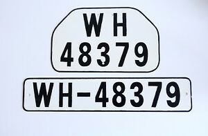 Details about GERMAN ARMY WWII WW2 repro car vehicle truck license number  tag plates WH-48379