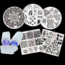 6Pcs/set BORN PRETTY Nail Art Stamping Template Image Plate Stamper Scraper DIY