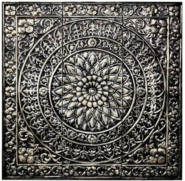 3 FT Home Decor Square Abstract Design Metal Wall Art Sculpture ...