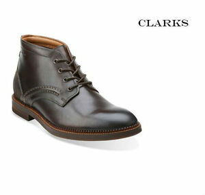 Clarks Mens Buckland Mid Chestnut Leather Chukka Boots UK 6 RRP £120!