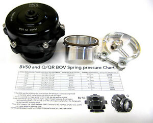 Tial-Q-Blow-Off-Valve-BOV-50MM-10-psi-with-Aluminum-Flange-New-Version-2-Black