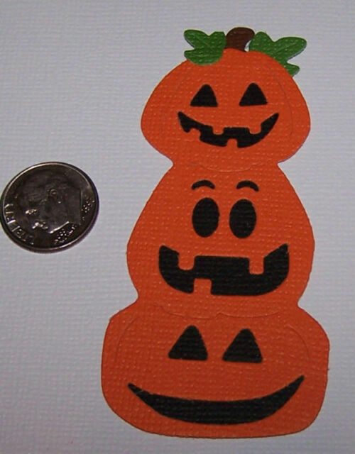 Scrapbook /& Card Making 3 Pumpkins Premade PAPER Die Cuts