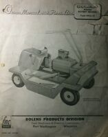Bolens Fmc 8426-01 Riding Lawn Rotary Mower Owner & Parts Manual 6pg 1960