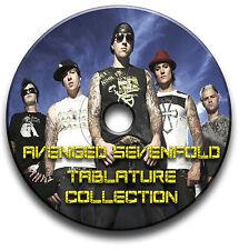 95 x AVENGED SEVENFOLD HEAVY METAL ROCK CHITARRA INTAVOLATURE CANTO LIBRO CD