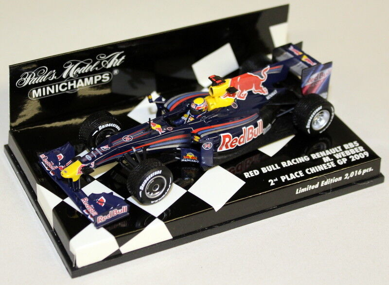 Minichamps 1/43 SCALA 400 090114 rosso BULL Racing RENAULT RB5 M. Webber 09 F1 AUTO