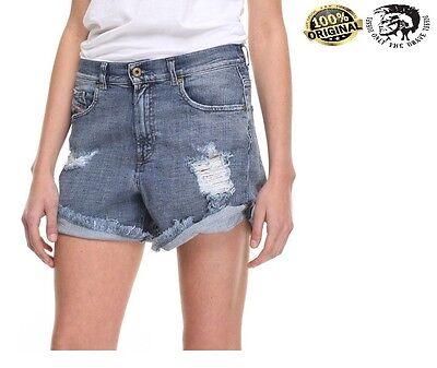 Women Short Diesel Short Diesel DE-SHORIS CALZONCINI Denim Shorts Jeans RRP£65