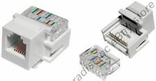 Lot50 Keystone RJ11/RJ12 tooless Jack Phone/Telephone for 6/4wire 6P6C/4C{WHITE