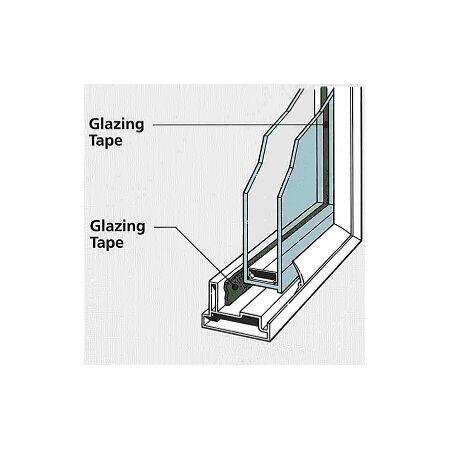 JVCC DC-WGT-01 D//S Window Glazing Tape: 1//16 in B x 50 yds thickness x 1//2 in