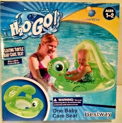 Sunshade Inflatable Baby Kid Seat Boat Turtle Toddle Children Swimming Pool Ring