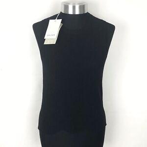 JIGSAW-Slinky-Knit-Tank-Top-Size-Xs-UK-8-Women-s-In-Black-Brand-New-With-Tags
