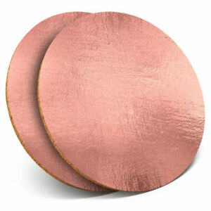 2-x-Coasters-Rose-Gold-Foil-Copper-Effect-Home-Gift-24123