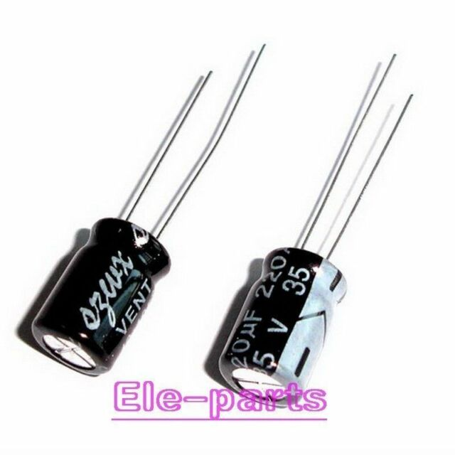 50 PCS 220UF/35V Radial Electrolytic Capacitors 8*12MM 35V220UF 105℃