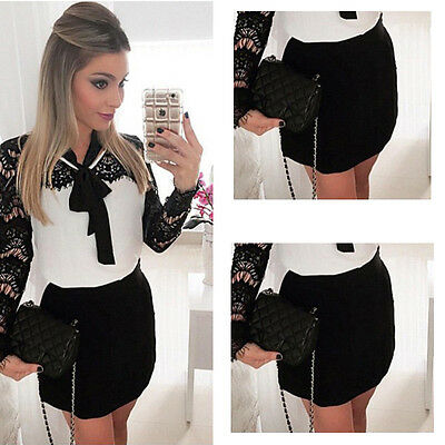 Womens Sweet Autumn Winter Lace Long Sleeve Pleated Waisted Ball Gown Dress